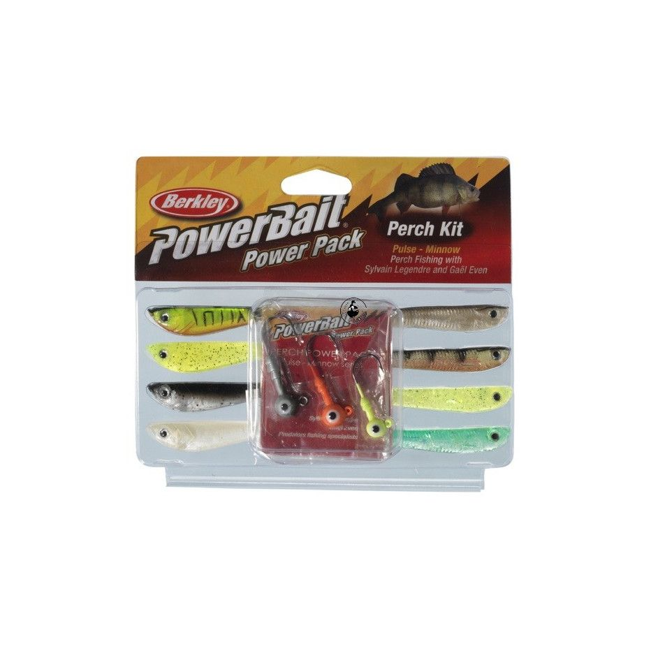 Kit Berkley Powerbait Perch Pulse Minnow Pro Pack