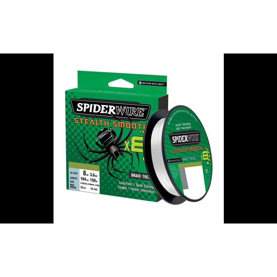 Tresse Spiderwire Stealth Smooth 8 Braid Translucent 150m