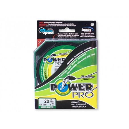 tresse Power Pro Verte - Bobine 275m