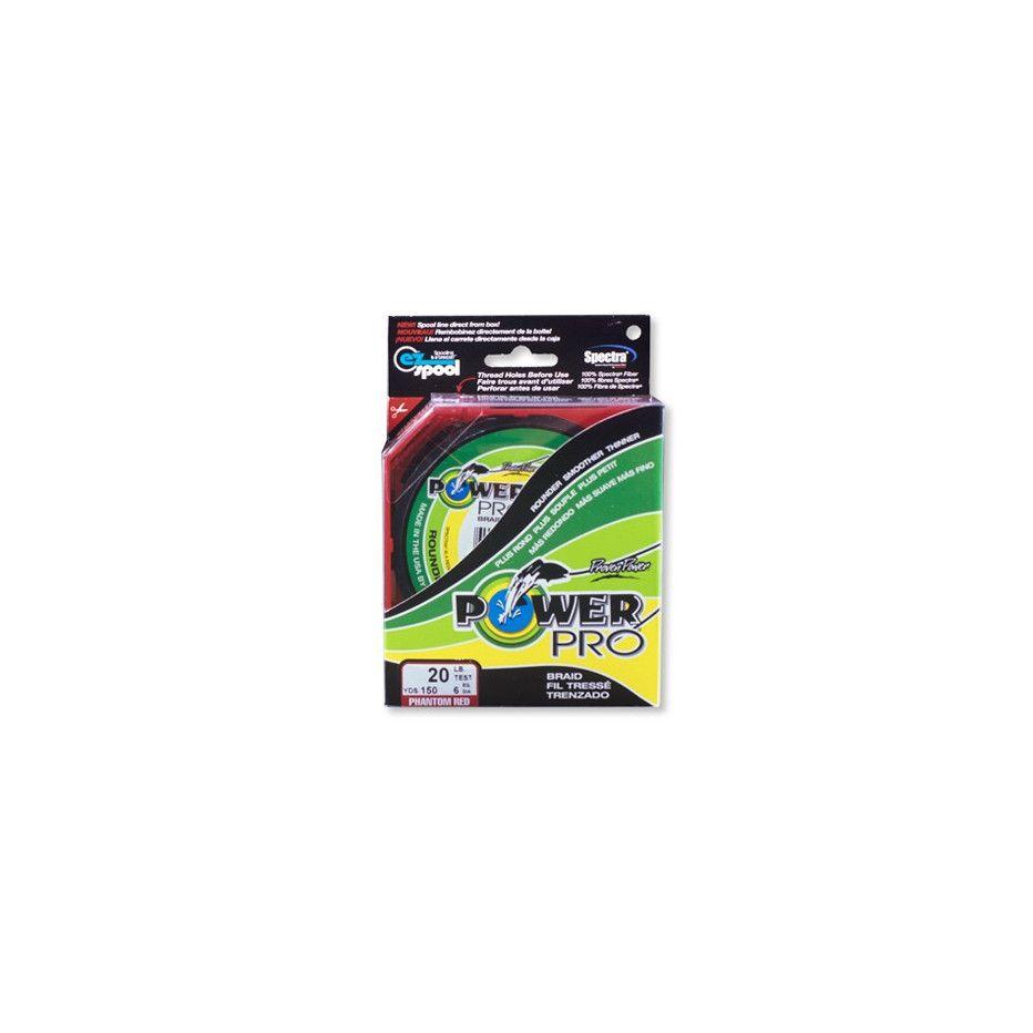 Tresse Power Pro Rouge - Bobine 135m